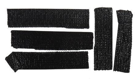 Black sello tape isolated on white photo