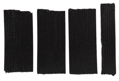 scotch: Zwarte plakband plakken op de witte achtergrond