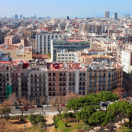 Barcelona aerial view photo