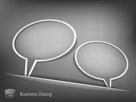 Business dialog concept Vector