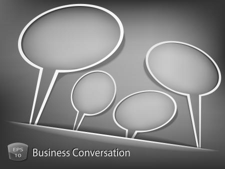 Business dialog concept Stock Vector - 13683026