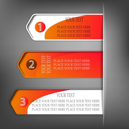 Set of red advertisement tags Vector