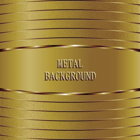 Gold metal surface background Vector