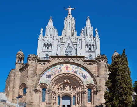 Church of the Sacred Heart of Jesus in Barcelona, Spain photo
