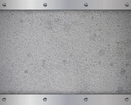 Metal plate with screws on the iron background photo