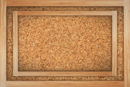 Brown cork board with wooden frame isolated on white Stock Photo - 14260339