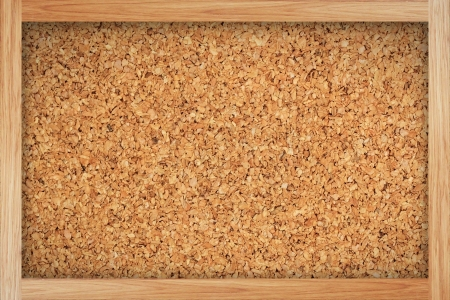Brown cork board with wooden frame Stock Photo - 14260341