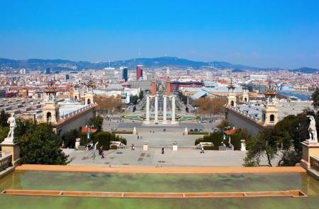 Plaza Espana at the Barcelona city, Spain