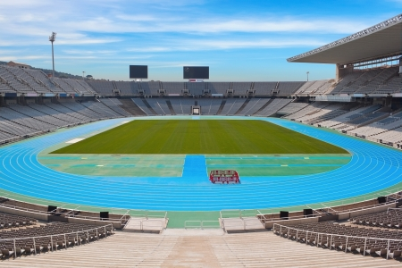 Barcelona o;ympic stadium on sunny day