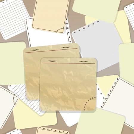 Old sticking paper background Vector