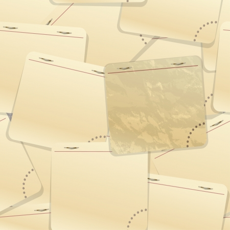 old notebook: Notepab sticking paper background Illustration