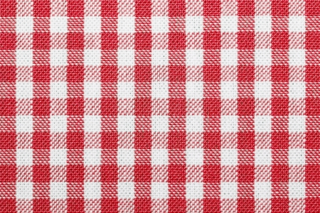 chequered: Lined white and green dining clothes Stock Photo