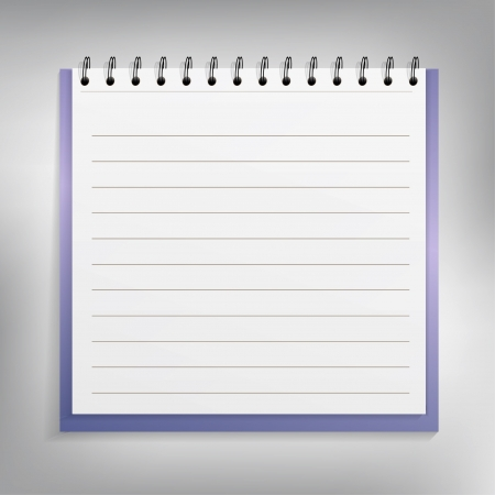 Spiral blue notepad  Vector