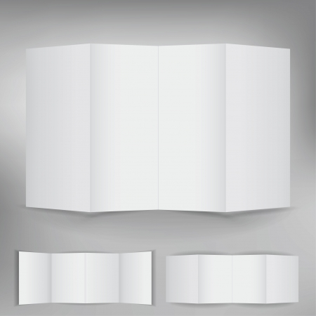 Set of blank white brochure cards Vector
