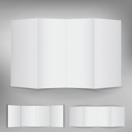 Set of blank white brochure cards Stock Vector - 14417622