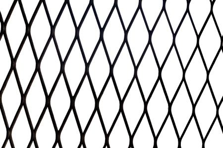 meshed: Metal net isolated on white background Stock Photo
