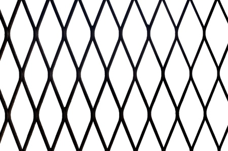 netty: Metal net isolated on white background Stock Photo