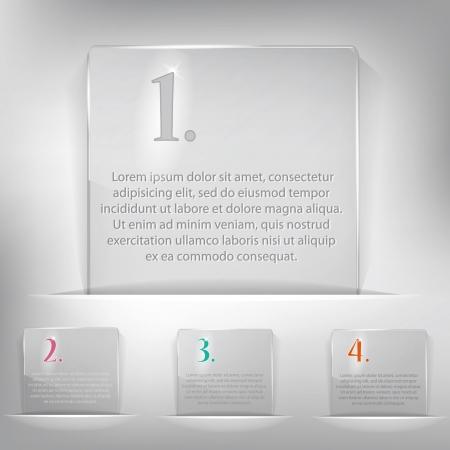 empty pocket: Set of four choice tags Illustration