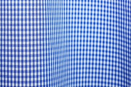 Blue checkered clothing surface photo