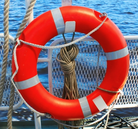 safety equipment: Safety ring on the ship
