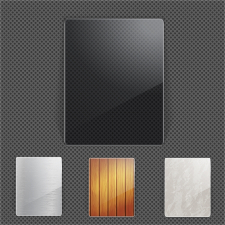 Set of different natural frames Vector