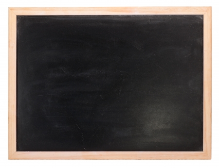 Clean chalk board  on white background photo