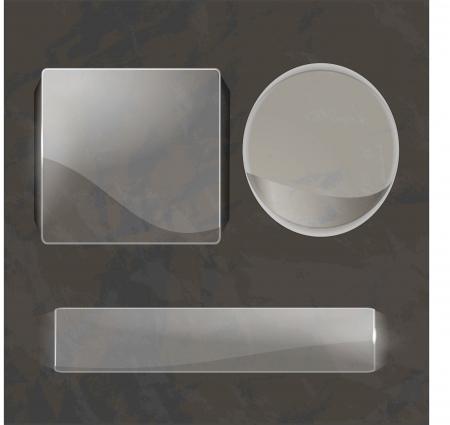 glass panel: Set of shiny glass labels Illustration