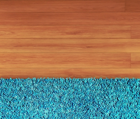 Brown carpet and wooden surface photo