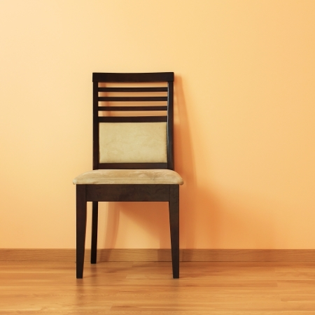 Chair in the  room with wooden floor photo