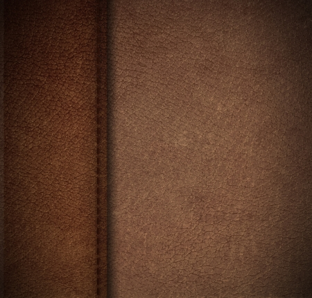 black leather texture: Pattern of artificial leather surface with thread seam