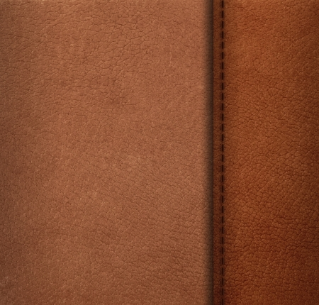 Pattern of artificial leather surface with thread seam photo