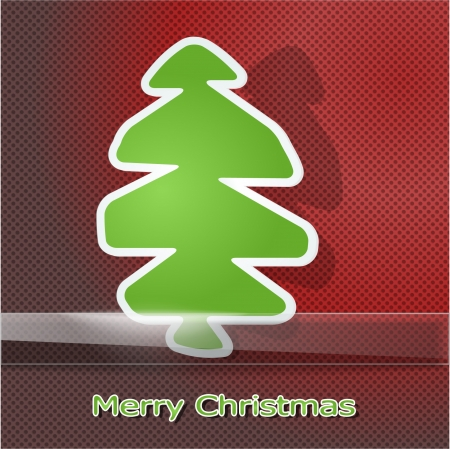Green christmas tree on holiday background Vector