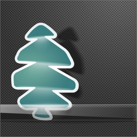 Fir tree symbol on christmas background Vector