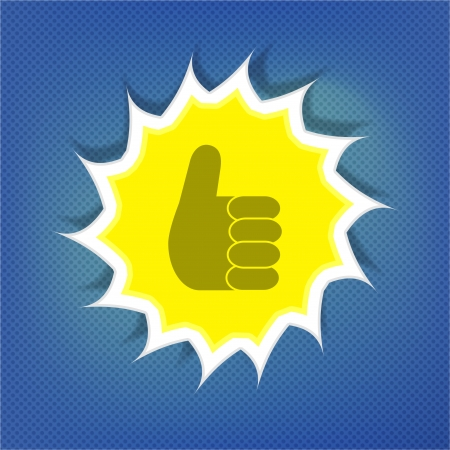 Ok sunny symbol over blue sky Vector