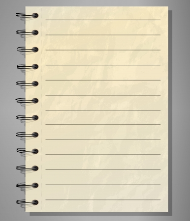 cuaderno espiral: Antiguo cuaderno espiral forrado
