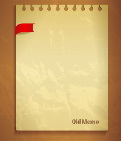 old notebook: Old notepad list withred bow