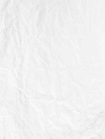 crinkled: Wrinkled white blank paper sheet Stock Photo
