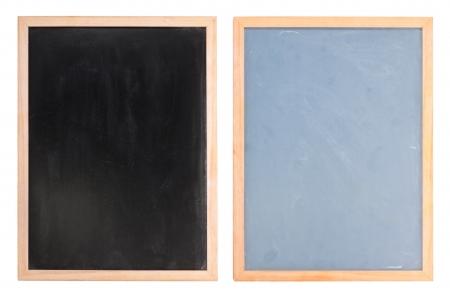 isolates: Two chalk boards isolates on white background