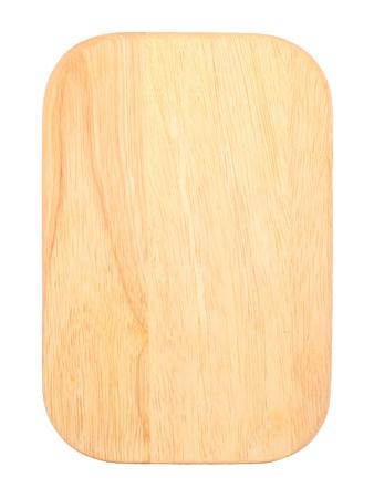 まな板: 白で隔離されるテーブルをチョッピング