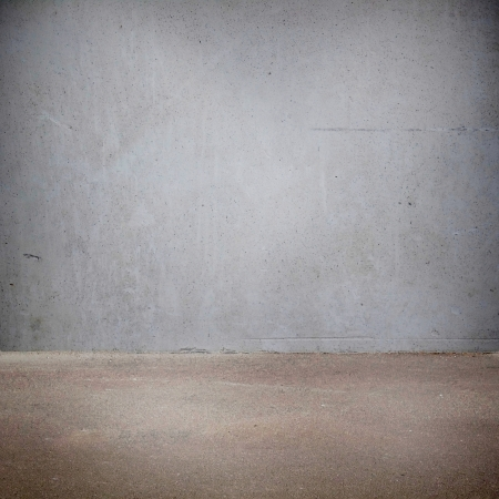 Plaster wall and the floor with light Stock Photo - 16247077