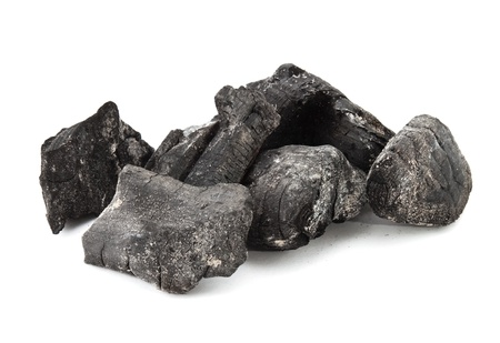 anthracite coal: Used coal from the burning fire