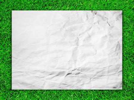 White paper on grass field