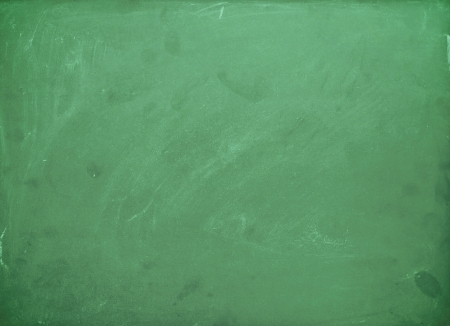 Empty chalk board isolated on white
