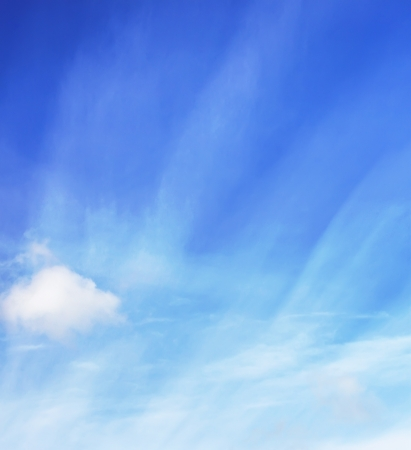 Soft white blue sky background photo