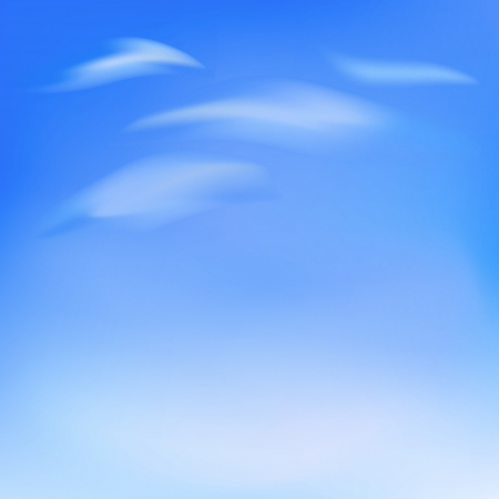 Blue sky with soft clouds Stock Vector - 17230091