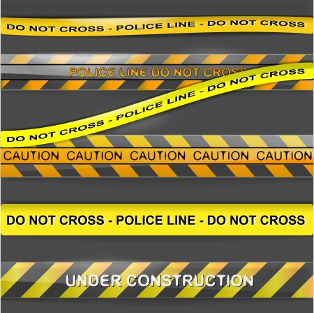 barrier tape: Police urgent line ribbons