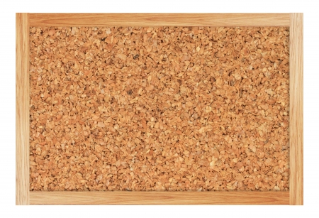 Brown cork board with wooden frame Stock Photo - 17230139