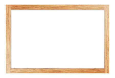 Brown wooden frame on white background Stock Photo - 17230096