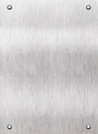 durable: Brushed aluminum metal plate