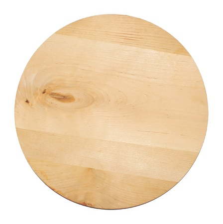 staying in shape: Round food wooden tray